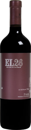 The kosher Elvi Wines 2008 EL26 Priorat from Spain was created with a blend of Syrah, Grenache, Cabernet Sauvignon and Merlot