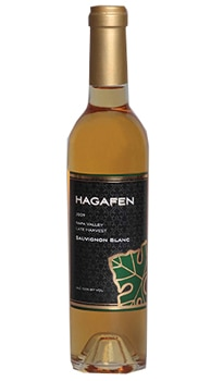 Hagafen Cellars 2009 Late Harvest Sauvignon Blanc is a sweet dessert wine with tropical fruit flavors