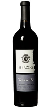 Herzog 2012 Variations Five Cabernet Sauvignon is a blend of grapes from five California vineyards