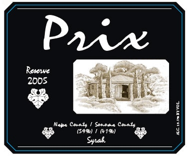 This Prix Vineyards 2009 Reserve Syrah is a reserve label from the renowned Hagafen cellar