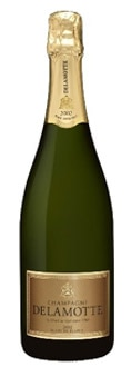 Delamotte Brut Blanc de Blancs NV, one of our Top Mid-Range Champagnes, offers citrus and floral aromas
