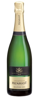 Champagne Henriot 2005 Brut Millesime is a fifty-fifty blend of Chardonnay and Pinot Noir