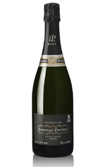 Champagne Laurent-Perrier Brut Millesime 2002, one of our Top 10 Mid-Range Champagnes, reveals a fine texture and yellow plum flavors