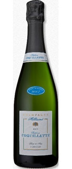Champagne Stephane Coquillette 2007 Carte Bleue Millesime Brut would pair well with fresh crab, oysters or scallops