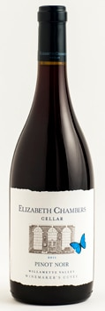Elizabeth Chambers Cellar 2013 Winemaker's Cuvee Pinot Noir is a blend of grapes from three vineyards