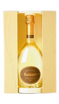 A bottle of Champagne Ruinart Blanc de Blancs, one of our Top 10 Mother's Day Wines