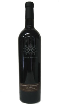 A bottle of Korbin Kameron 2005 Cabernet Sauvignon, one of our Top 10 Mother's Day Wines
