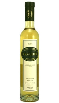 A bottle of Kracher 2008 Cuvee Beerenauslese, one of our Top 10 Mother's Day Wines