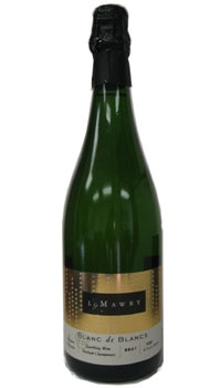 A bottle of L. Mawby Blanc de Blancs, one of our Top 10 Mother's Day Wines