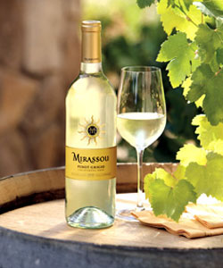 Mirassou Winery 2009 California Pinot Grigio, one of our Top 10 Mother's Day Wines