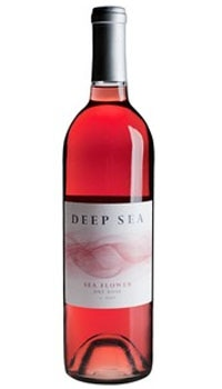 A bottle of Deep Sea 2009 Sea Flower Rose, one of our Top 10 Mother's Day Wines