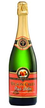 Wilson Creek Peach Bellini is made from the winery's own Almond Champagne and natural peach flavors