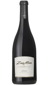 A bottle of Zaca Mesa 2007 Syrah, one of our Top 10 Mother's Day Wines