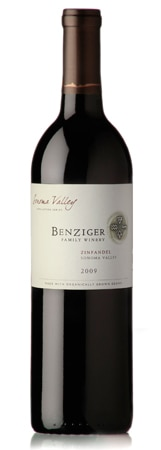 Benziger 2009 Sonoma Valley Zinfandel is a robust red wine made from certified organic grapes