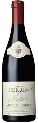 Famille Perrin 2011 Nature Cotes du Rhone comes from a single vineyard near Orange that has full Ecocert status