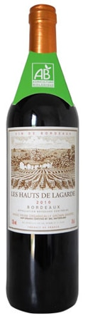 Les Hauts de Lagarde 2010 Rouge is composed of 65 percent Merlot, 25 percent Cabernet Sauvignon and 10 percent Cabernet Franc