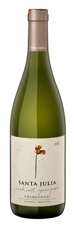 Santa Julia 2012 Chardonnay Organica, one of our Top 10 Organic Wines