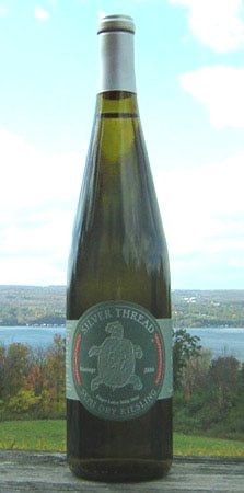 Silver Thread 2010 Semi-Dry Riesling, one of our Top 10 Organic Wines, is made in New York's Finger Lakes Region