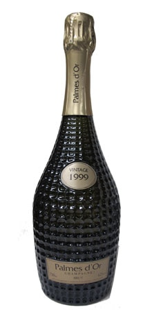 A bottle of Champagne Nicolas Feuillatte Palmes d'Or Brut 1999