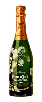 A bottle of Champagne Perrier-Jouet 2004 Belle Epoque Brut, one of our Top 10 Prestige Cuvees