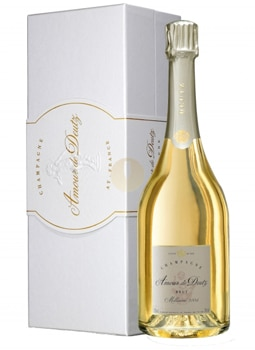Champagne Deutz 2005 Amour de Deutz Blanc de Blancs is made with grand cru Chardonnay, giving the wine a rich, lush palate