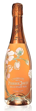 A bottle of Perrier-Jouet 2004 Belle Epoque Rose Champagne