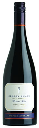 A bottle of Craggy Range 2008 Te Muna Pinot Noir from New Zealand