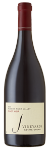 J Vineyards 2014 Russian River Valley Pinot Noir has notes of anise, raspberries and baked bread