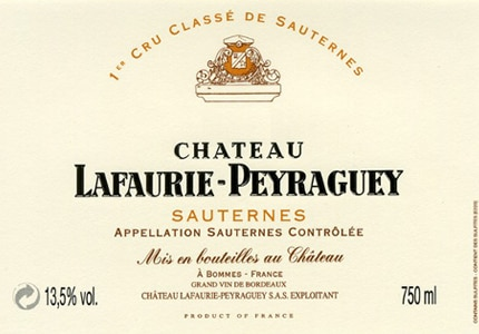 Chateau Lafaurie-Peyraguey 2006 Sauternes is full-bodied with a silky texture, racy lemon zest acidity and ample spice