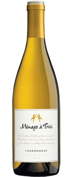 The Ménage à Trois Chardonnay is full-bodied and creamy in the mouth