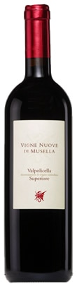 A bottle of Vigne Nuove di Musella 2008 Valpolicella Superiore from Italy