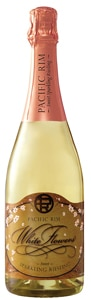 Pacific Rim White Flowers Sparkling Riesling is made from fruit harvested in Washington's Yakima Valley