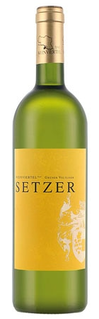 A bottle of Weingut Setzer 2009 Gruner Veltliner, an Austrian wine
