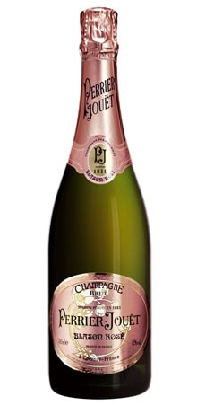 A bottle of Perrier-Jouet Blason Rosé