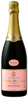 Champagne Charles Heidsieck Rose Reserve, one of our Top 10 Rose Champagnes, boasts blueberry flavors and a silky mouthfeel