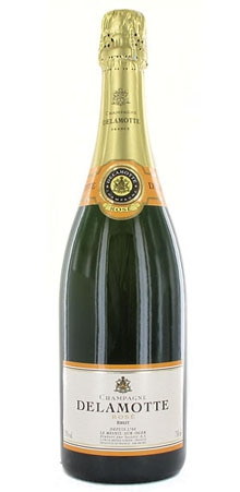 The Champagne Delamotte NV Brut Rose pairs well with poultry or red fruit desserts