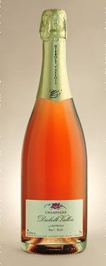 A bottle of Diebolt-Vallois Brut Rosé