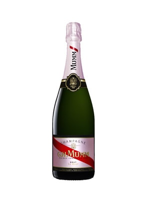 A bottle of Champagne G.H. Mumm Brut Rose