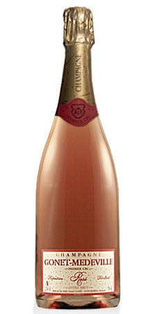 A bottle of Gonet-Medeville Rose Extra Brut