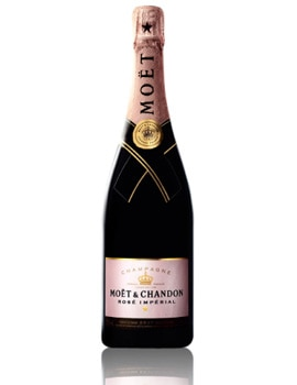 Champagne Moet & Chandon Rose Imperial, one of our Top 10 Rose Champagnes, is full-bodied, offering heady strawberry aromas