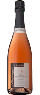 Champagne Stephane Coquillette Marie Aimer Rose Brut is made entirely from Pinot Noir grapes
