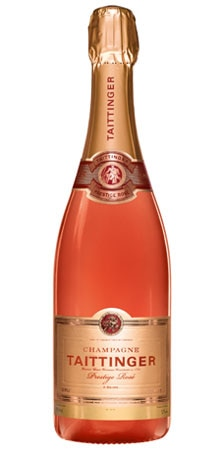 A bottle of Taittinger Prestige Rosé