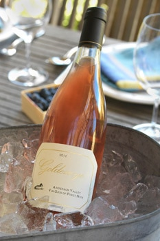 Goldeneye 2011 Vin Gris of Pinot Noir, one of our Top 10 Rose Wines