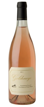 Goldeneye 2011 Vin Gris of Pinot Noir, one of our Top Roses