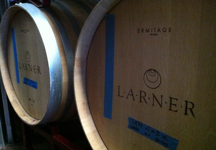 Larner 2014 Estate Grown Rose is made using the saignee method