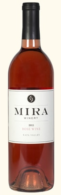 Mira 2011 Rose of Cabernet Sauvignon displays an aromatic nose, delicate texture and flavors of strawberry, pomegranate and red currants