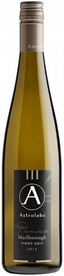 Astrolabe 2012 Province Pinot Gris displays fragrant aromas and flavors of pear and stone fruit