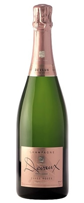 Champagne Devaux Cuvee Rosee is composed of 80 percent Pinot Noir and 20 percent Chardonnay