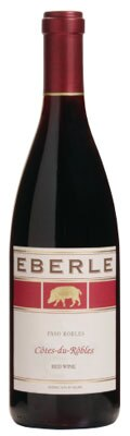 Eberle 2010 Côtes du Rôbles Red Blend is composed of 43 percent Grenache, 23 percent Syrah, 23 percent Mourvèdre and 11 percent Durif