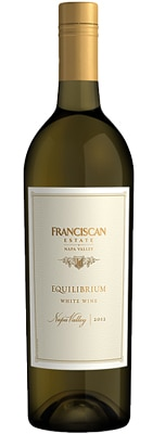 Franciscan Estate 2012 Equilibrium is a harmonious blend of Sauvignon Blanc, Chardonnay and Muscat